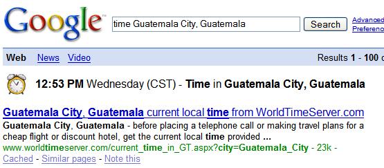 Imagen de Google Tiempo